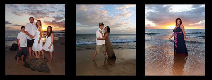 loving couple on Maui beach