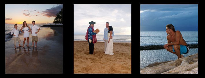 wedding ceremony on Maui beach