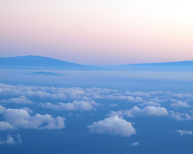 A view of Big Island from Haleakala