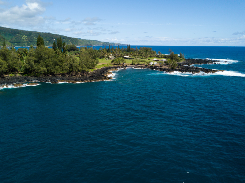 a wide angle view of kaenae peninsula