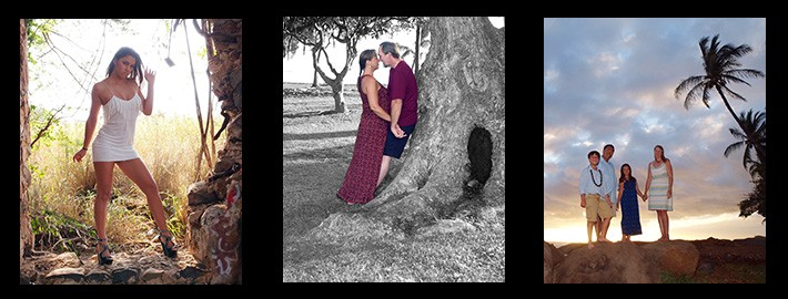 romantic loving couple by a tree at a park