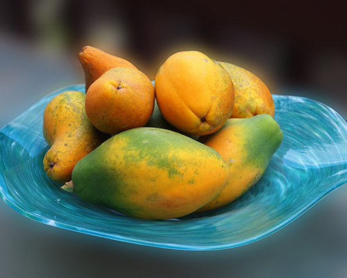plate of papaya