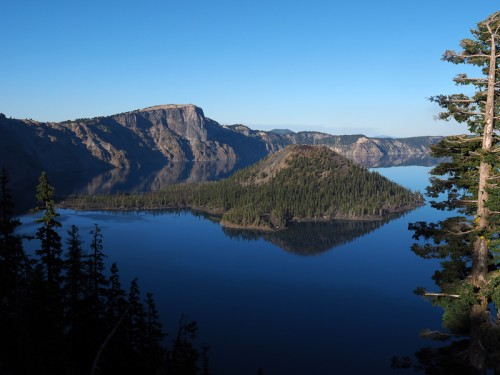 other locations gallery - A view of Wizard Island in Crater Lake National Park, southern Oregon