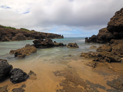 a delightful little cove at the waianae coast on Oahu