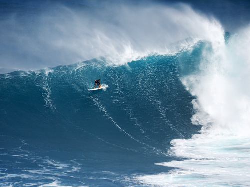 An October Day At Jaws On The South Shore of Maui, Hawaii