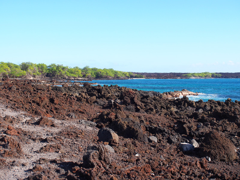 A broad view of La Perouse Bay on the south shore of Maui