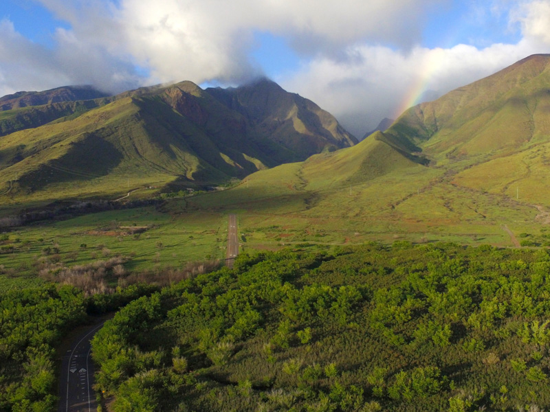 A view of the West Maui Mountains on the lower west side