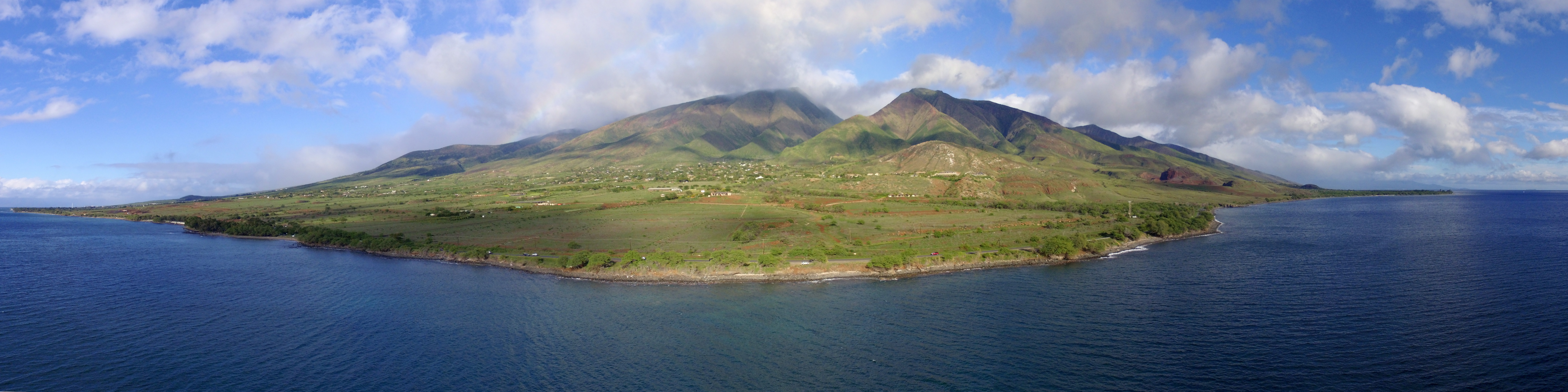 A panorama view of the lower west side of Maui